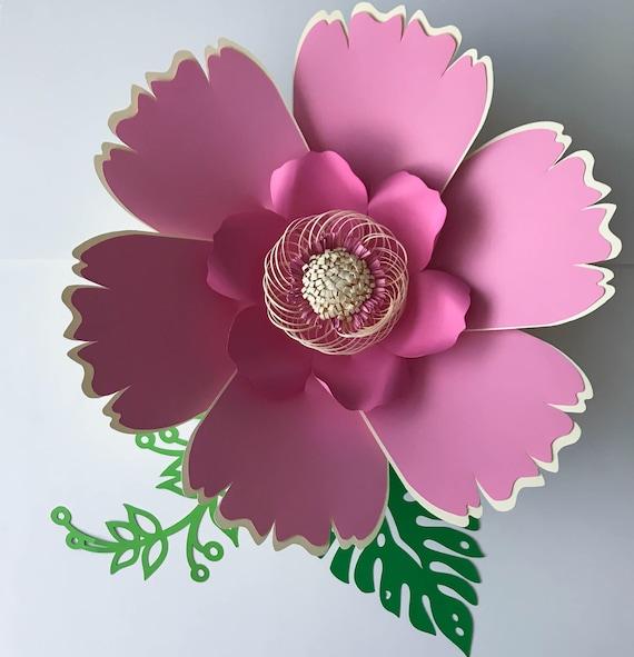 Paper Flowers SVG Petal 38 Paper Flower Template Digital Etsy