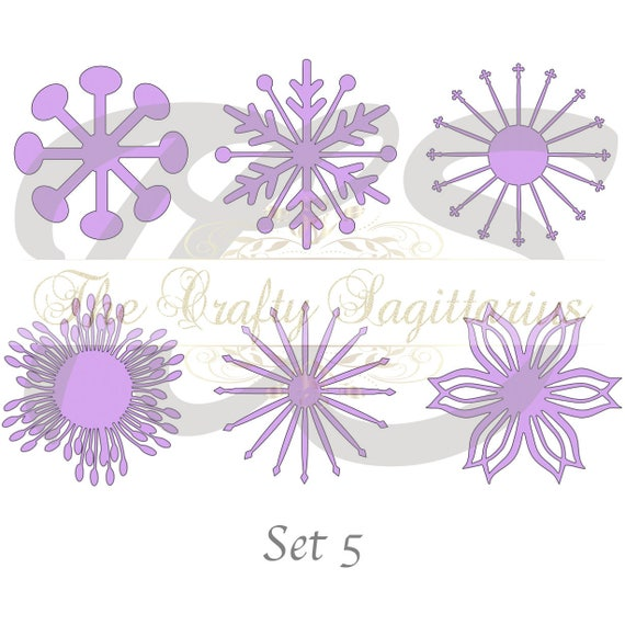 Svg set 5 6 different flat center for paper flowers machine etsy image 0 mightylinksfo