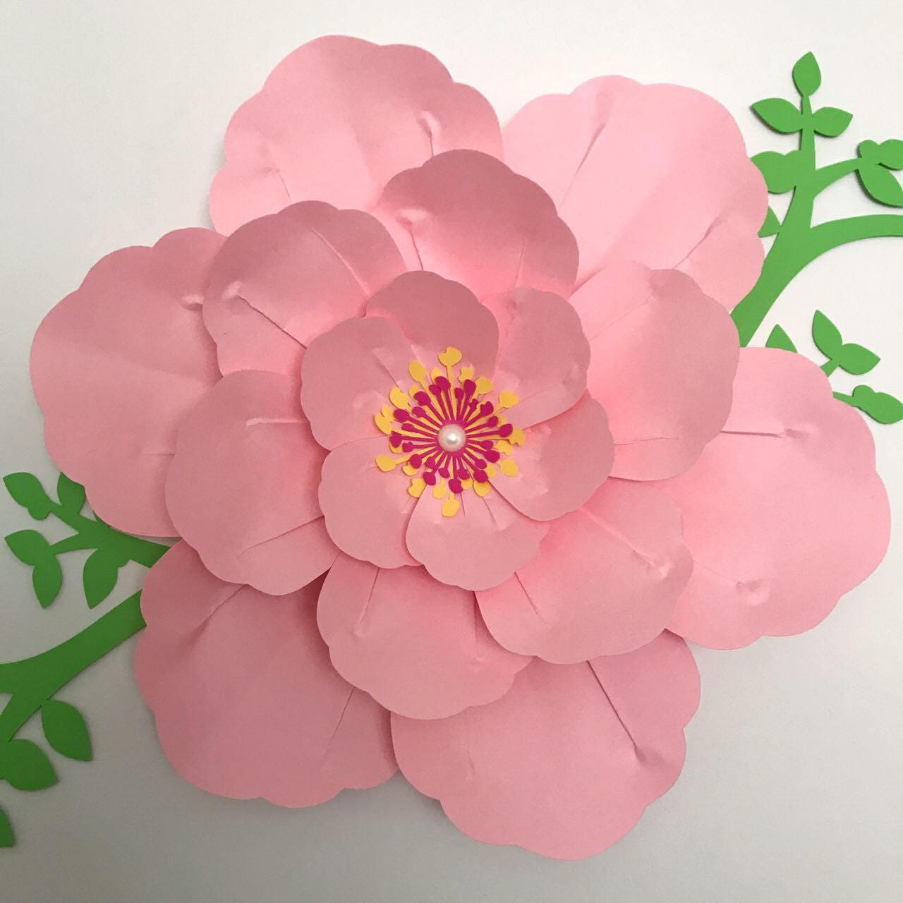 Paper Flowers Pdf Paper Flower Template Digital Version Etsy