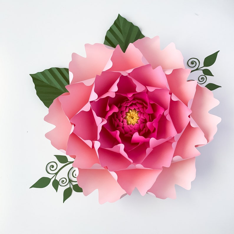 Paper Flowers Svg Petal 13 Paper Flower Template With Base Digital File For Cutting Machines Such As Cricut And Silhouette Cameo