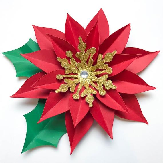 Svg Dxf Weihnachten Weihnachtsstern Papier Blumen Vorlage Diy Etsy
