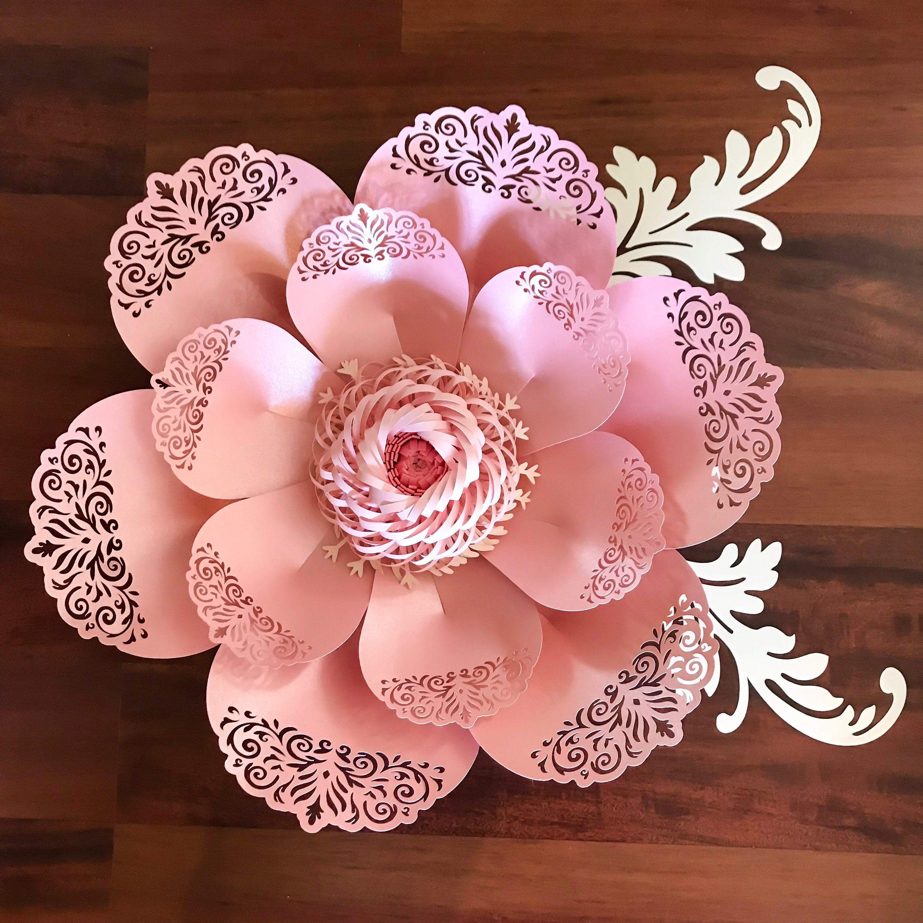 Svg Lace Paper Flower Template 8 For Cutting Machine To Make Diy