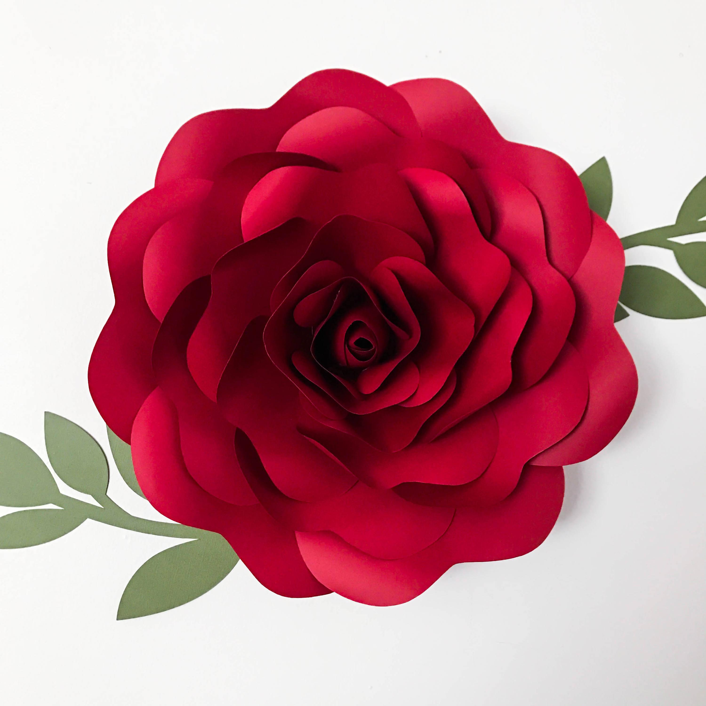Svg Petal 39 Rose Paper Flower Template Digital Version Etsy