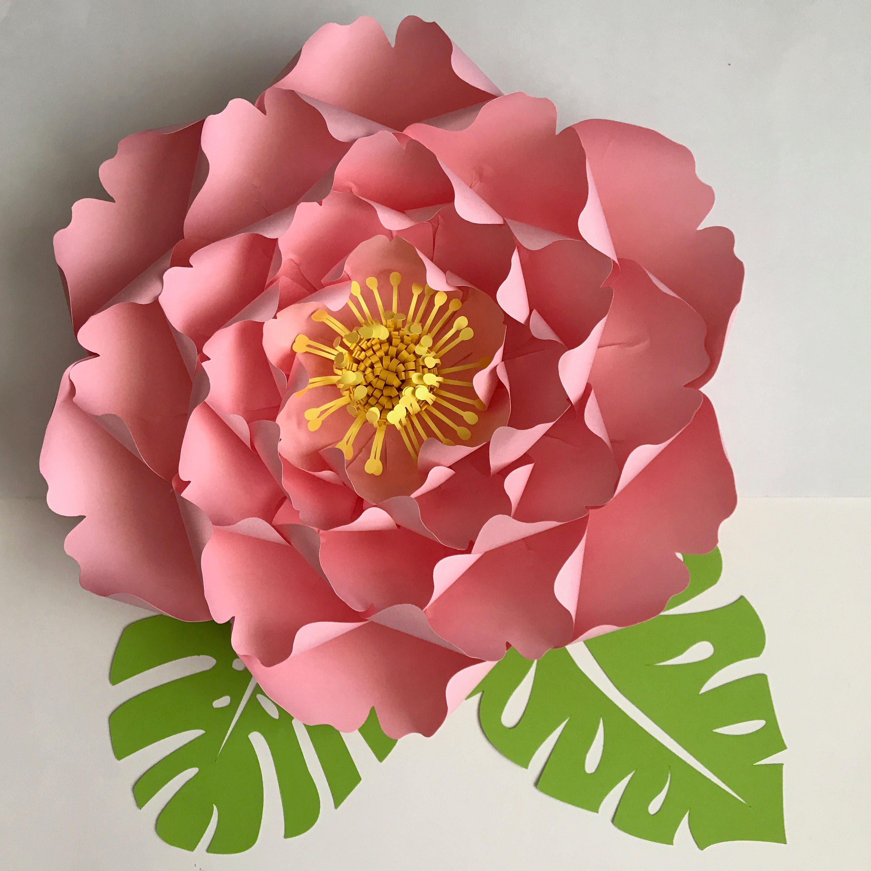 Paper Flowers Svg Files Petal 128 Giant Peony Cutting Etsy