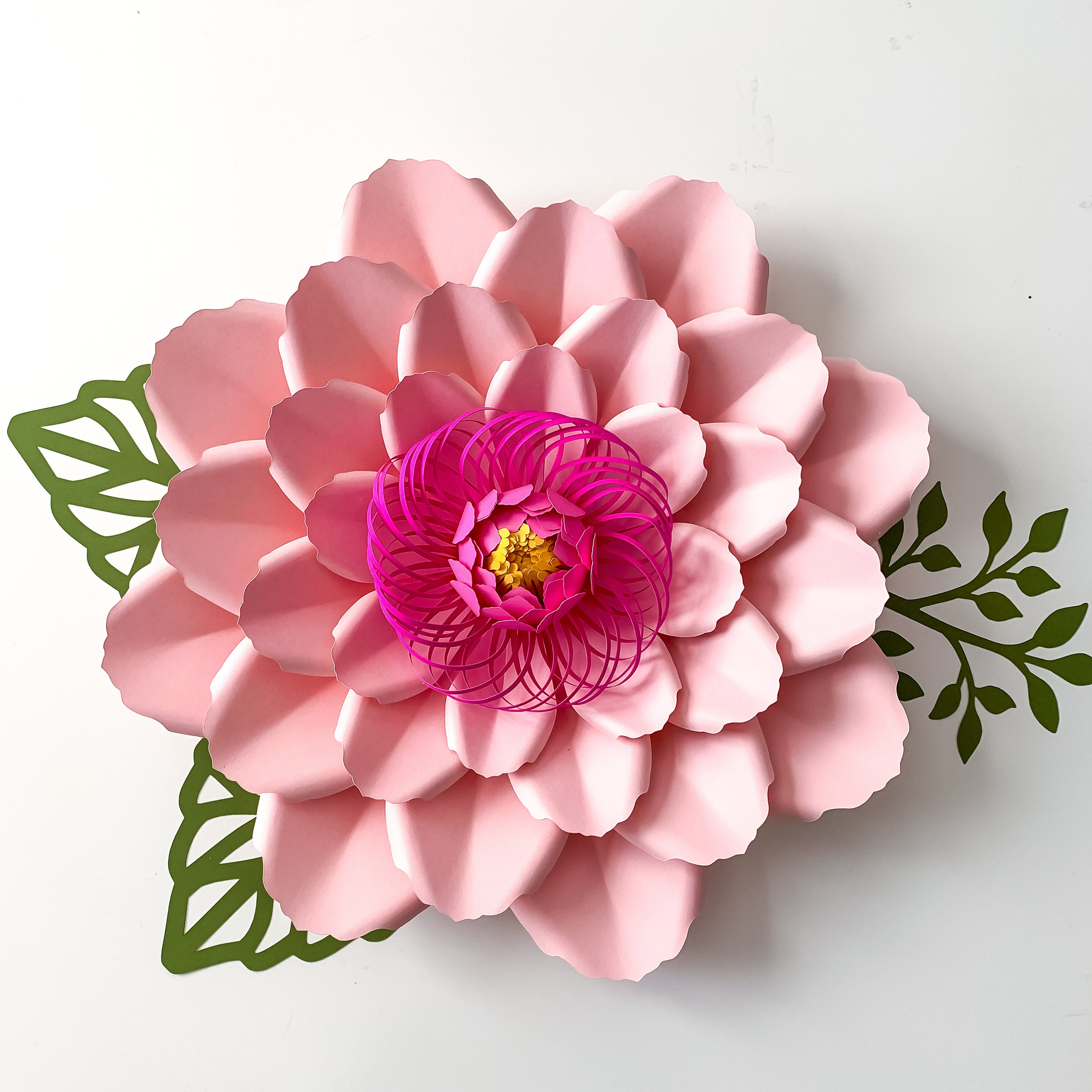 pdf petal  66 paper flower template comes with flat center  round  u0026 hexagonal base instant