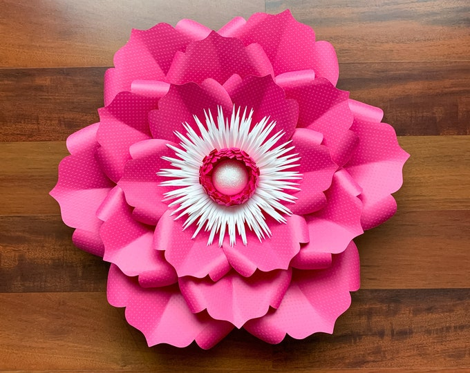 PDF Petal 22 Printable DIY Paper Flowers Template No Resizing Needed w/ FREE Flat Centers + Bases w/ Lots of Video Tutorials for weddings