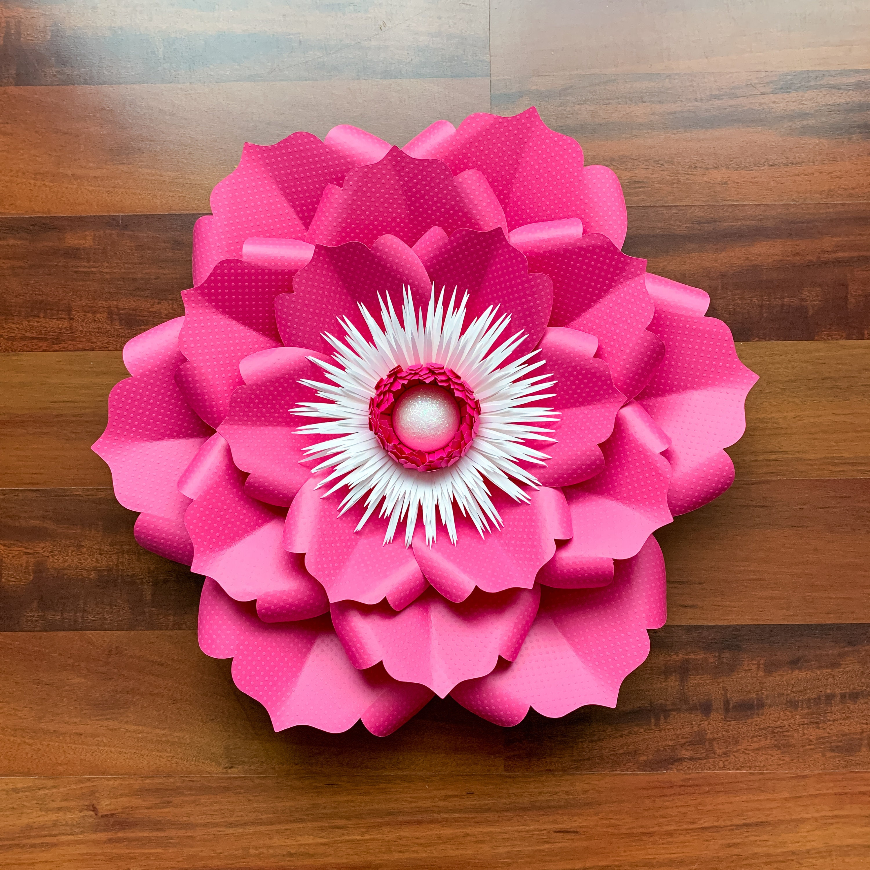 pdf petal 22 printable diy paper flowers template no resizing needed w   free flat centers bases