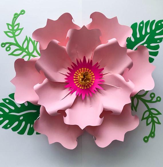 Paper flowers svg petal 71 paper flower petal template etsy image 0 mightylinksfo