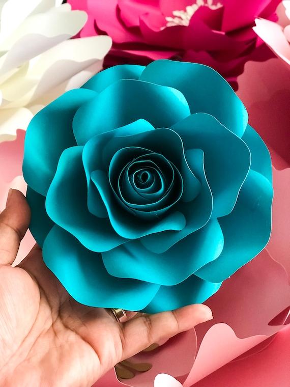 pdf mini rose petal template printable trace n cut files etsy