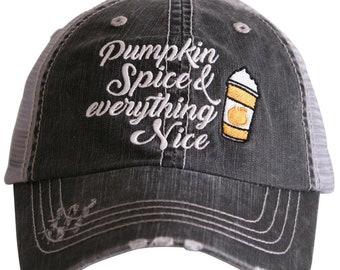 b5932ea146b0d9 Pumpkin Spice Hat - Love starbucks - Love Starbucks hat - pumpkin spice and  everything nice - baseball cap - pumpkin spice ball hat -