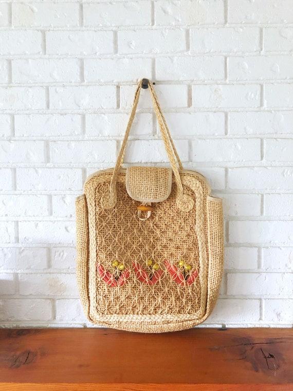 Vintage Beach Bag Tote Market Bag