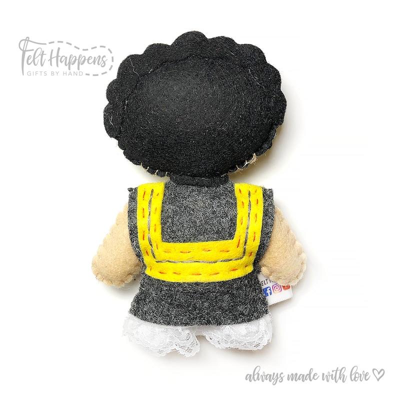 Handmade Felt Doll,Gift By Hand Stocking Stuffer SHIP AFTER XMAS-Frida Kahlo Stubby