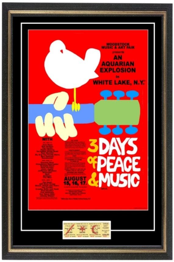 Woodstock 1969 Konzert POSTER TICKET bereit zum Rahmen | Etsy