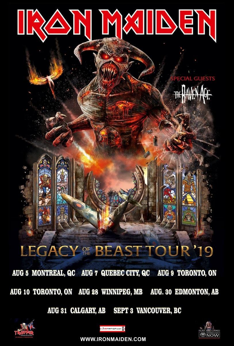 Iron Maiden 2019 Kasse Konzert Plakat Nordamerika | Etsy