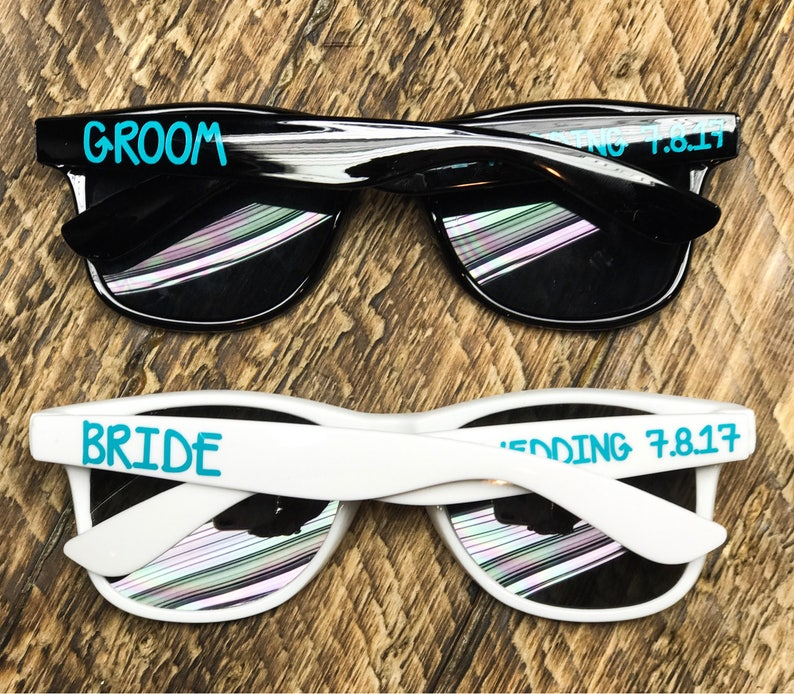 86633f885b0 Bride and Groom sunglasses Personalized Sunglasses Wedding