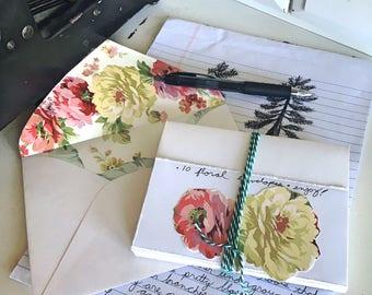 Floral Lined Envelopes