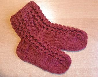 white hand-knit socks kids socks thin socks winter socks warm socks handmade socks white socks durable stockings for hand-dye socks casual