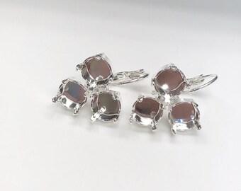 355fdf64348fa Silver earring base   Etsy