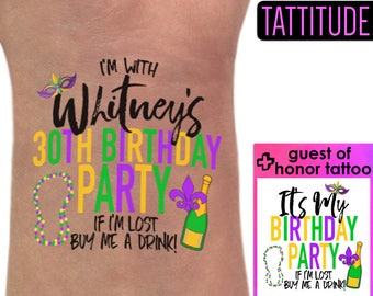 New Orleans Birthday Tattoos | NOLA Birthday, New Orleans Birthday Shirt, mardi gras shirt women, mask, decorations, t shirt, CUSTOM TATTOO