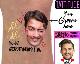 Bachelorette Party Favor - Bachelorette Tattoo - Bachelorette Party Favors - Groom's Face Tattoo - Bride Tattoo - Bride Gift - Funny Gift