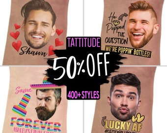 50 % OFF SALE Bachelorette Party Favors, Bachelorette Tattoos, Bride Gift, Groom Face Tattoo, Bride Tattoo, Funny Gift, custom, gear, gifts