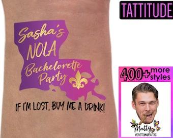 New Orleans Tattoos Bachelorette Party Favor Custom Tattoo Etsy