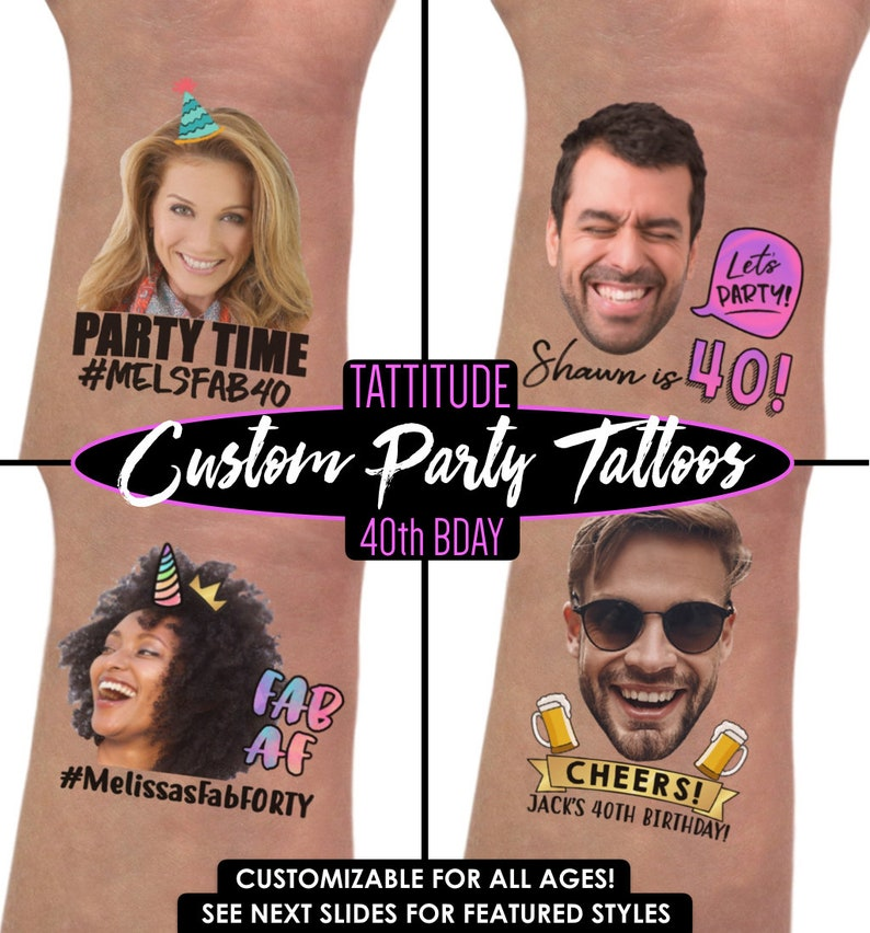 40th Birthday Party Tattoo Favors For Women
