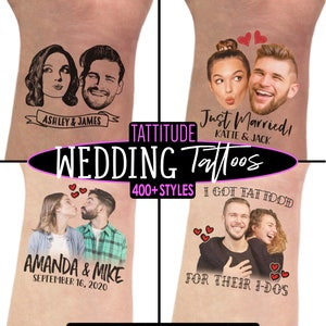 bride custom stencil personalized decorations ideas decor temporary unique face tattoo Wedding Tattoos Favors for Guests sketch