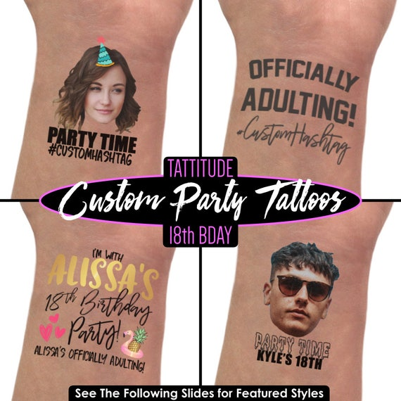 18th Birthday Gifts For Girls Custom Tattoos Party Favors
