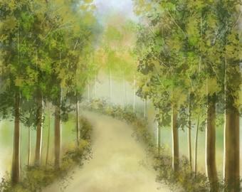Pathway Through Greens