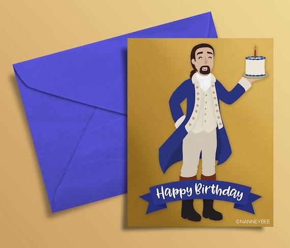 Hamilton Musical Alexander Birthday Card Printable Print Yourself Digital Download