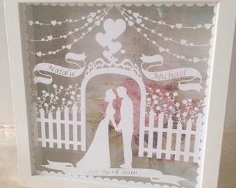 Mariage personnalisé ou cadeau d'anniversaire boîte cadre