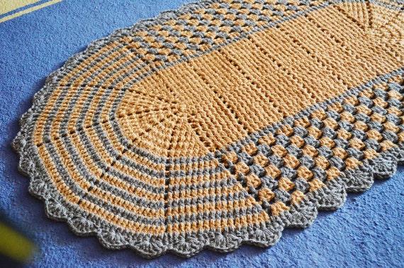 Ovale Crochet Rug Hand Häkeln Bettvorleger Badezimmer Etsy