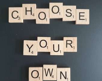 Scrabble tiles choose your own letters 5 supplied