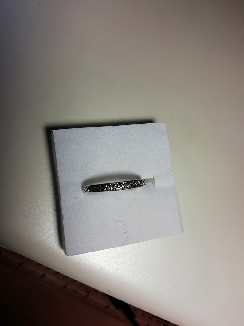3 Vintage Silver Tone Band Rings.