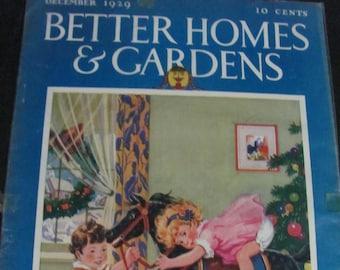December 1929 Better Homes & Gardens Magazine COVER