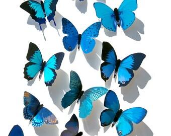 Blue Butterflies 3D Butterfly Wall Decor Decoration Art Home