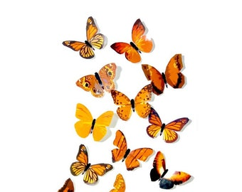 Butterfly Confetti Iron On Patch Insect Orange