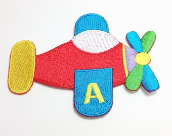 Airplane patch Kid applique iron on patch