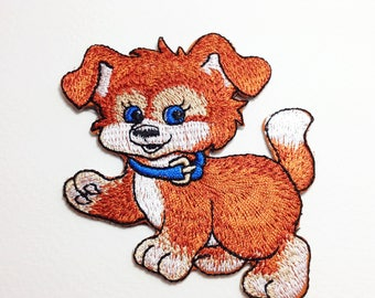 Puppy patch Brown puppy iron on patch