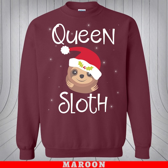 Sloth Ugly Christmas Sweater.Ugly Christmas Sweater Couple King Sloth Queen Sloth Mr And Mrs Sweatshirt Couple Sweater Men And Women Funny Xmas Matching Gift
