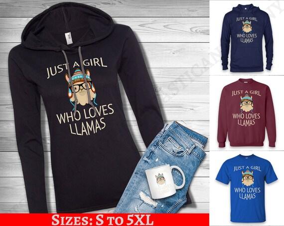 Llama Ok Gildan Hoodie Sweatshirt I Just Freaking Love Llamas