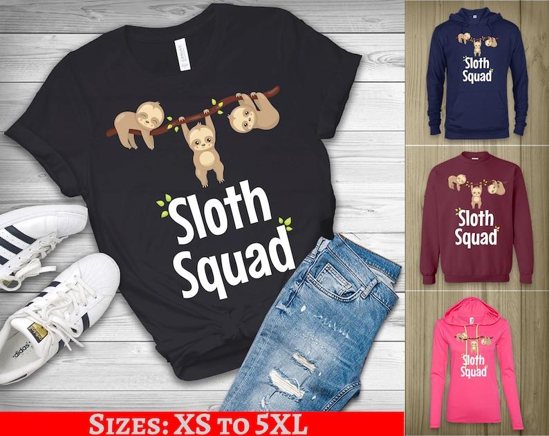 cb00e6dc978c Sloth shirt sloth gifts Sloth Squad love sloths tshirt sloth   Etsy