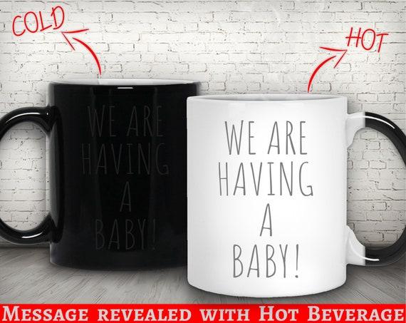 Pregnancy Announcement to Husband Pregnancy Reveal Magic mug