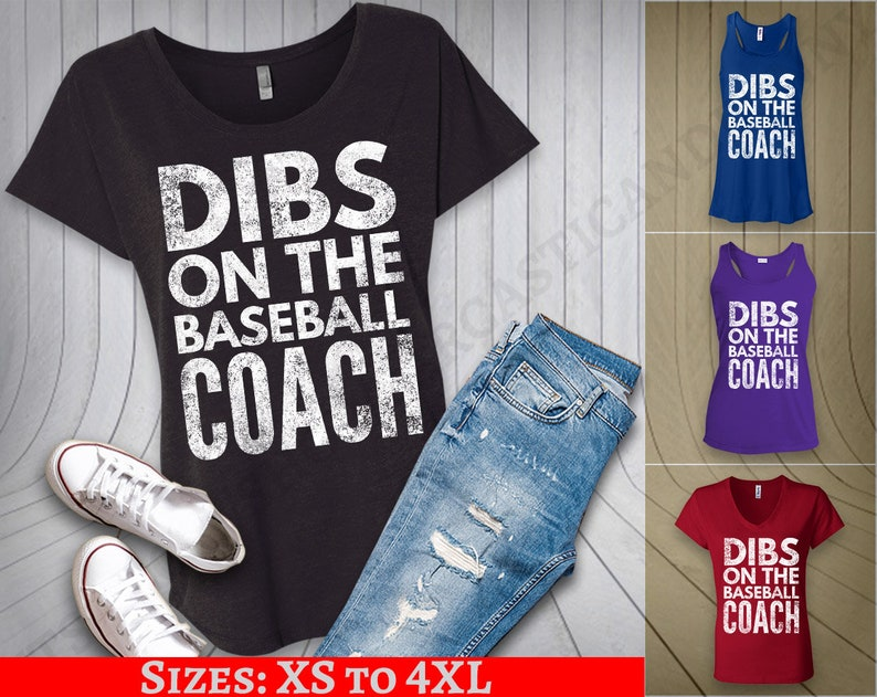 4e157219 Dibs on the Coach Baseball Shirt Coach's wife shirt Off | Etsy