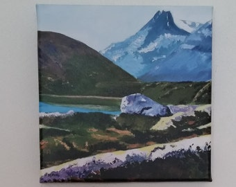 Print on canvas from an original acrylic painting 'Norwegian landscape1'