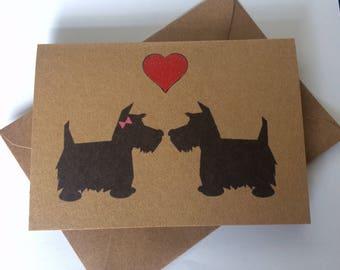 Handmade Dogs Love Card