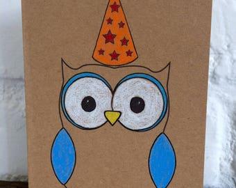Handmade Owl Celebration Card
