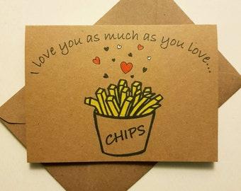 Handmade Funny Love Card - Anniversary, Valentines & Wedding - Valentine Love Heart