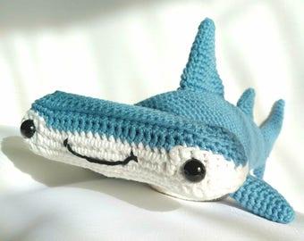 PDF Hammerhead Shark Crochet Pattern,  Hank the Hammerhead Shark Crochet Pattern, Hammerhead Shark Amigurumi Pattern